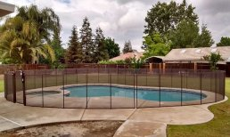 pool fence in brown color