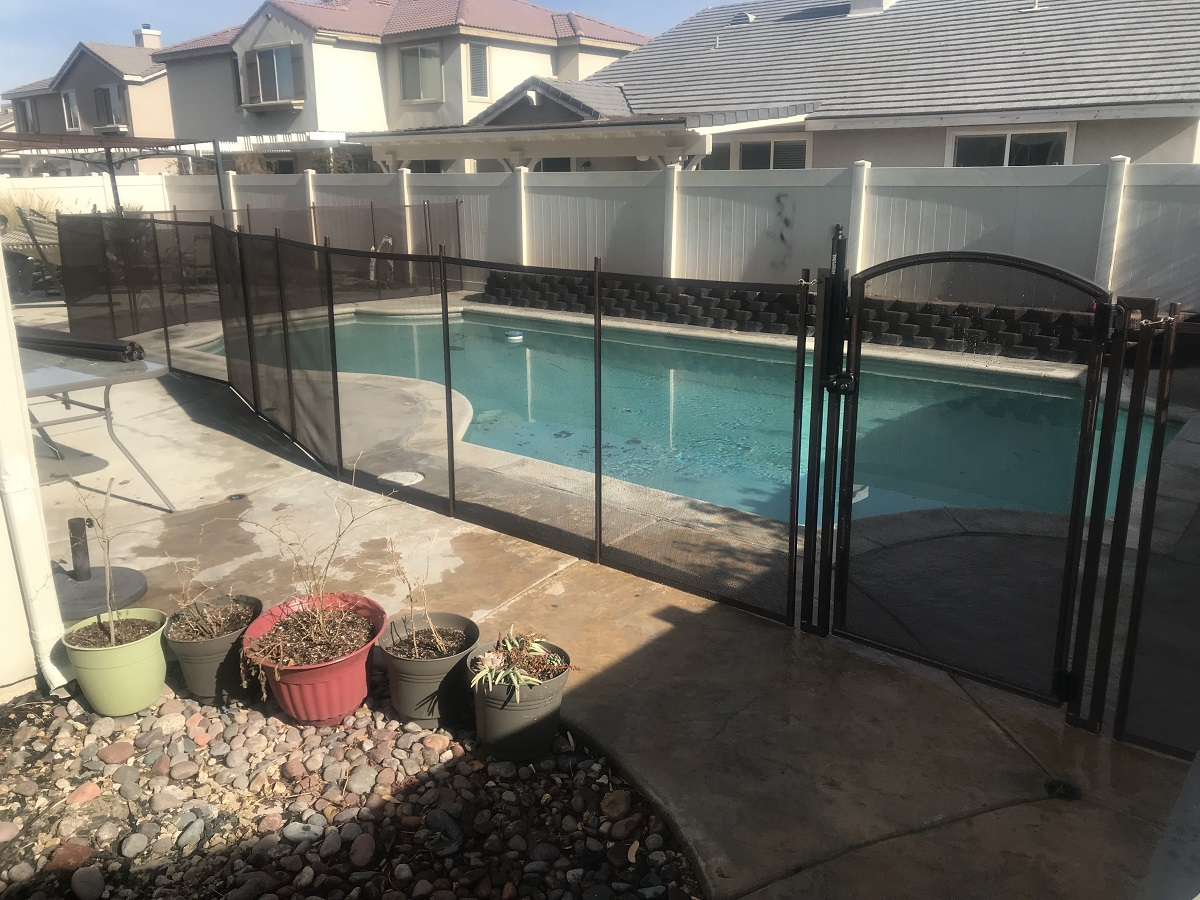 child pool fencing installed in Palmdale, CA