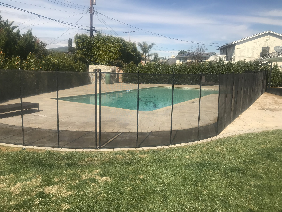 Life Saver pool fence installed in El Granada, CA