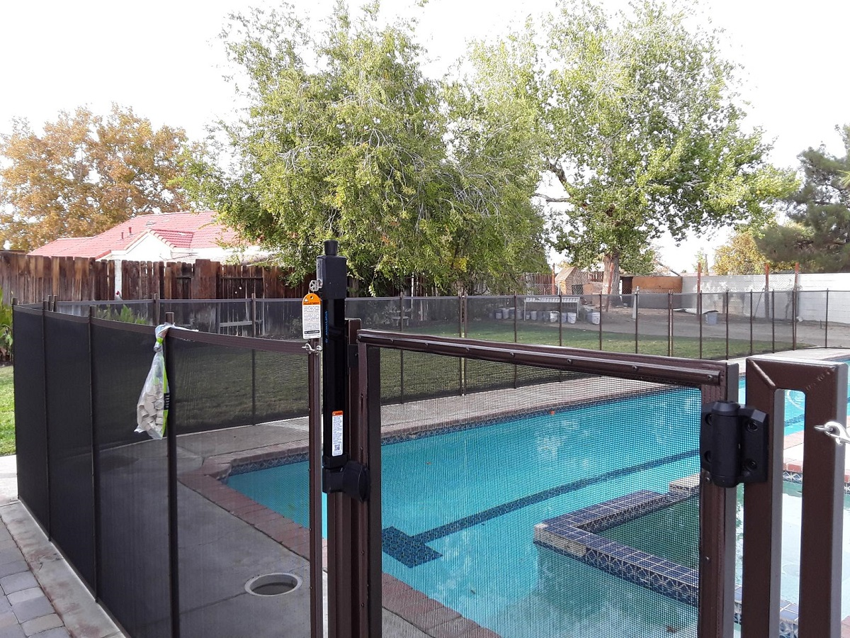 pool safety fence installed in Palmdale, CA
