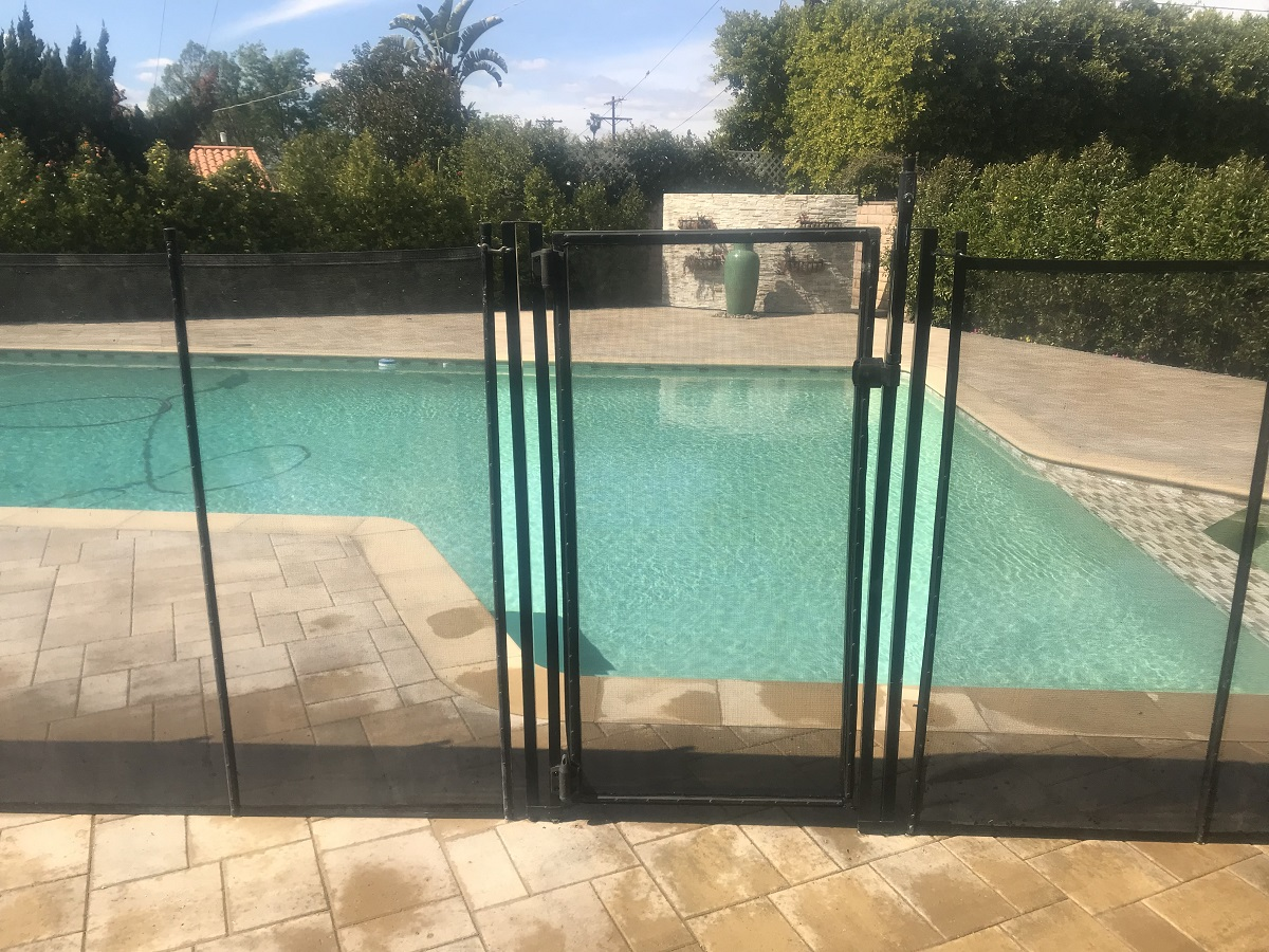 pool safety gate installed in El Granada, CA