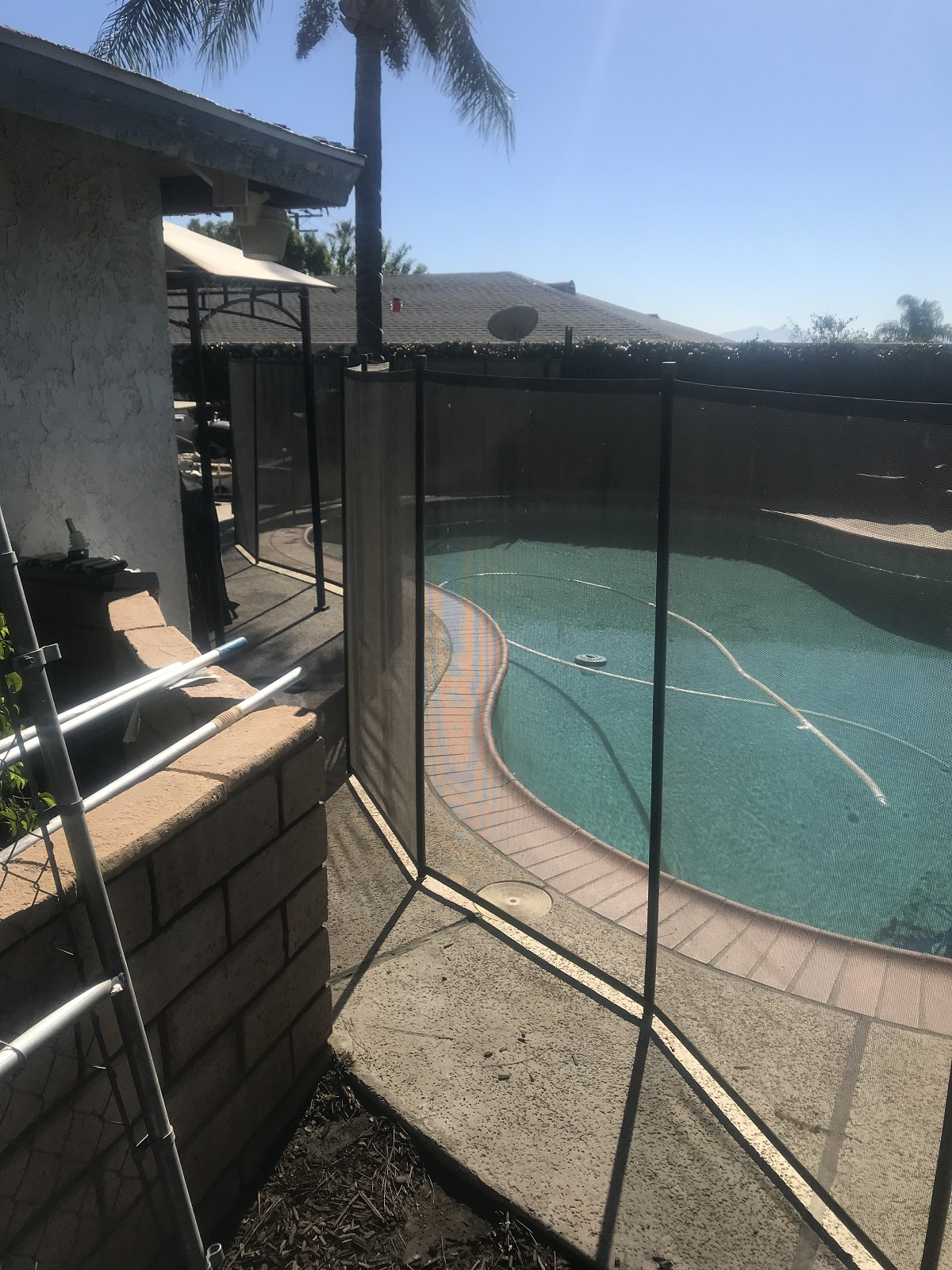 removable mesh pool fence Rancho Cucamonga, CA