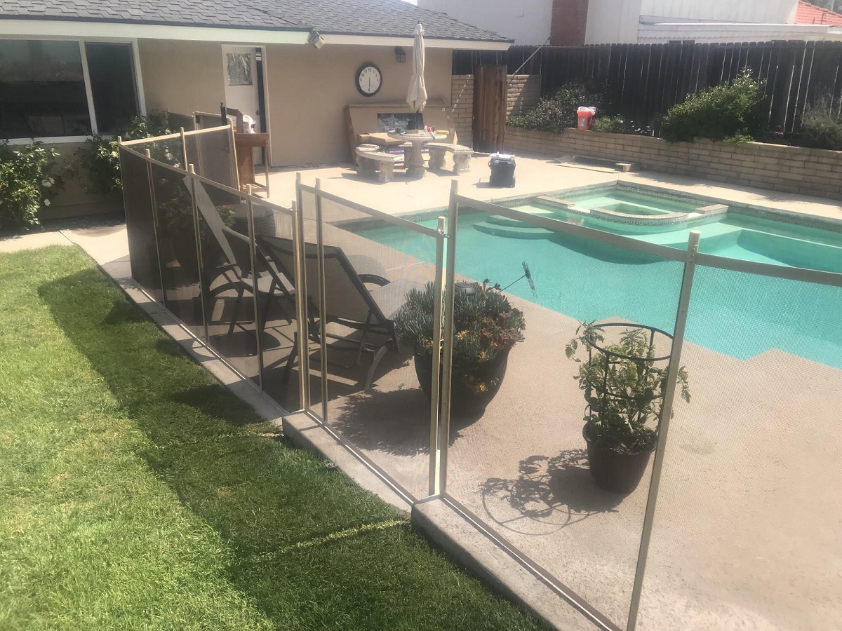 Ann Hacienda Heights Pool Fence Installation