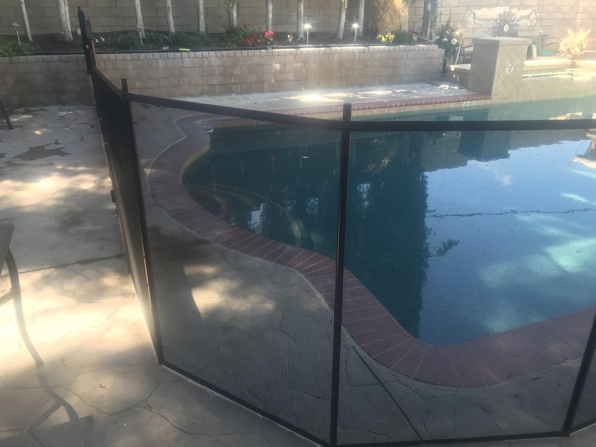 Life Saver Pool Fence installed in Santa Clarita, CA