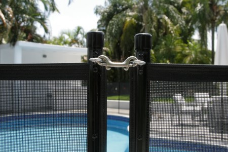 pool safety fence snap latch