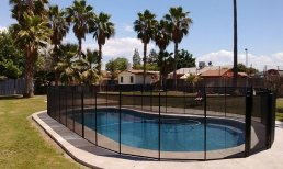 black pool fence
