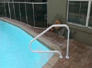 swimming pool handrail installations