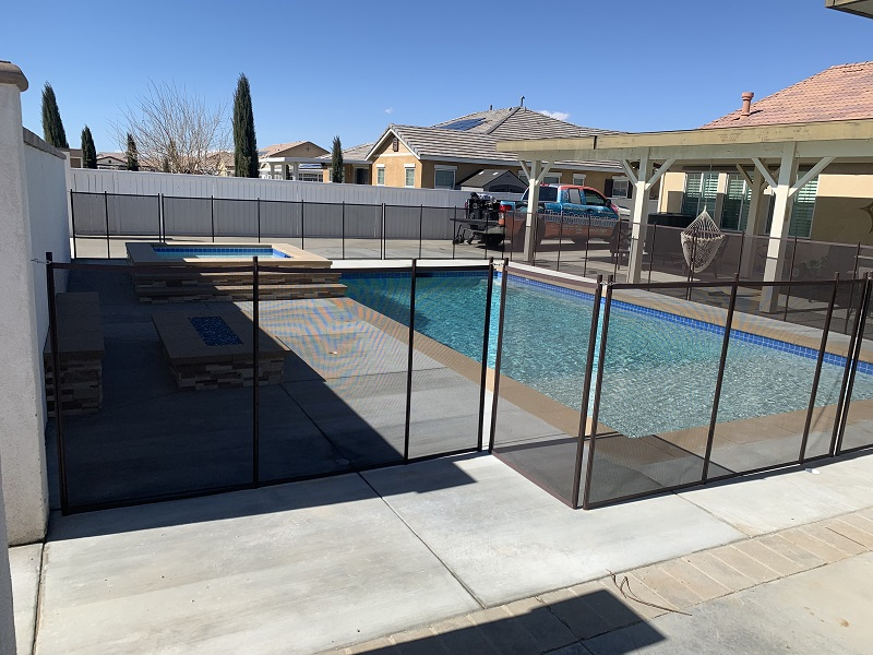 mesh pool fence installed in Lancaster, CA