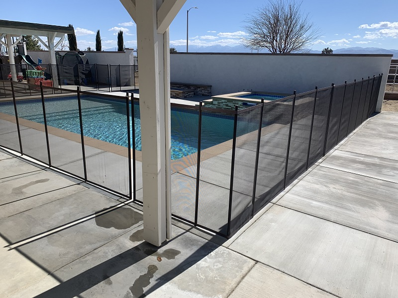 pool fence installed by King's Pool Fencing in Lancaster, CA