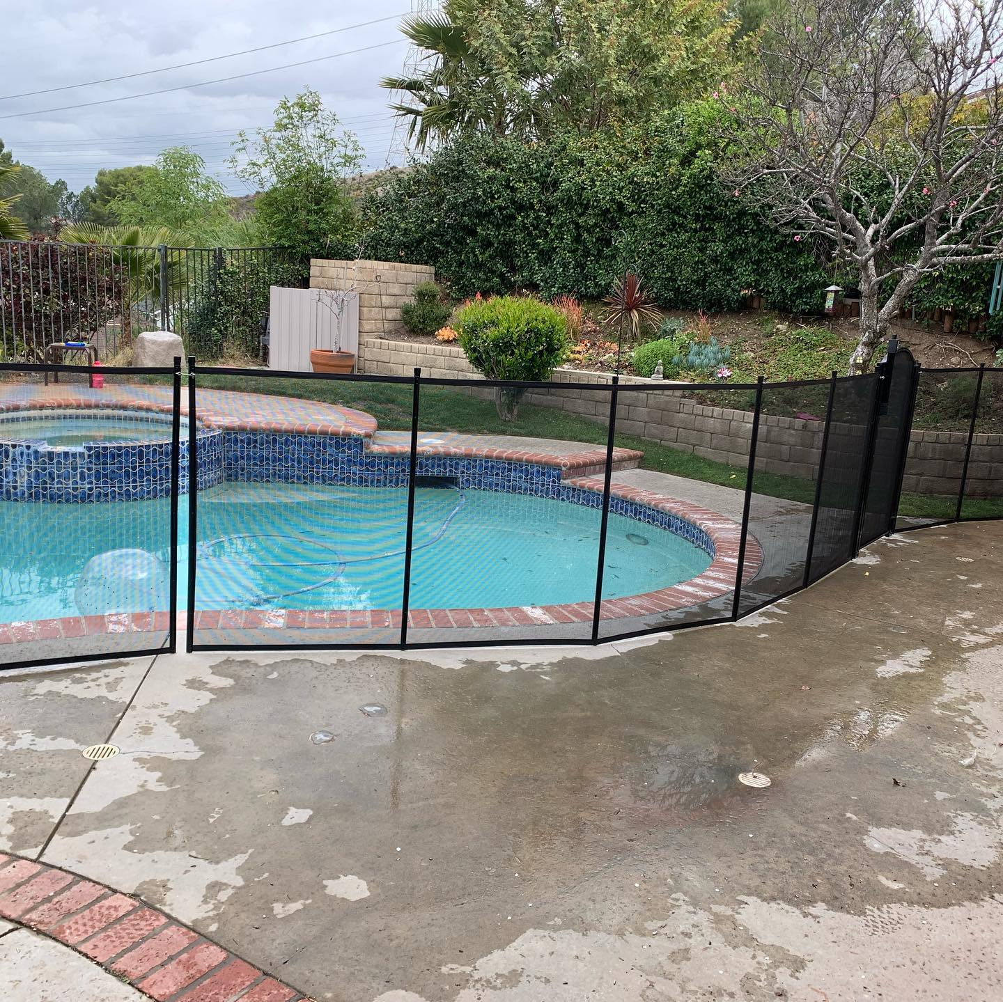 pool fence installed in Santa Clarita, CA by King's Pool Fencing